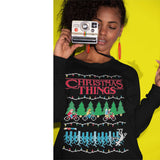 Stranger Christmas Things | TV Show | Ugly Christmas Sweater [Unisex Crewneck Sweatshirt]-Over The Boardwalk Shirts