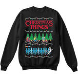 Stranger Christmas Things | TV Show | Ugly Christmas Sweater [Unisex Crewneck Sweatshirt]-Crewneck Sweater (Unisex)-Black-Small-Over The Boardwalk Shirts