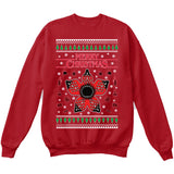 Stranger Things Demogorgon | TV Show | Ugly Christmas Sweater [Unisex Crewneck Sweatshirt]-Crewneck Sweater (Unisex)-Red-Small-Over The Boardwalk Shirts