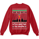 The Joker | Put On A Happy Face For Christmas | Ugly Christmas Sweater [Unisex Crewneck Sweatshirt]