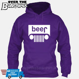 Beer White Grilles | Jeep Parody Alcohol Humour | Men's Drinking [Hoodie] Hoodie / Purple / Small - Over The Boardwalk Shirts