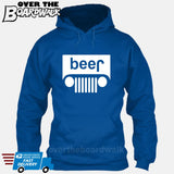 Beer White Grilles | Jeep Parody Alcohol Humour | Men's Drinking [Hoodie] Hoodie / Royal Blue / Small - Over The Boardwalk Shirts