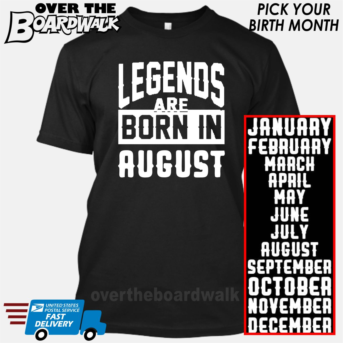 68c1714ea Legends are Born In (PICK MONTH) [T-shirt/Hoodie/Tank Top] – Over ...