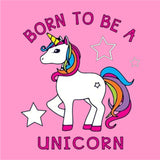 Born to be a Unicorn **Youth Sizes** [T-shirt] Kids/Children/Girls Sizes-Over The Boardwalk Shirts