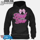Bad to the Bow - Cheer | Cheerleading | Cheerleader [Hoodie] Hoodie / Black / Small - Over The Boardwalk Shirts