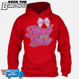 Bad to the Bow - Cheer | Cheerleading | Cheerleader [Hoodie] Hoodie / Red / Small - Over The Boardwalk Shirts