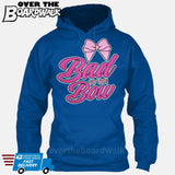 Bad to the Bow - Cheer | Cheerleading | Cheerleader [Hoodie] Hoodie / Royal Blue / Small - Over The Boardwalk Shirts