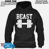 "Beauty and Beast - ""Beast"" [T-shirt/Hoodie/Tank Top]-Hoodie-Black-Over The Boardwalk Shirts"