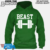 "Beauty and Beast - ""Beast"" [T-shirt/Hoodie/Tank Top]-Hoodie-Kelly Green-Over The Boardwalk Shirts"