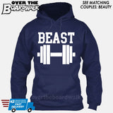 "Beauty and Beast - ""Beast"" [T-shirt/Hoodie/Tank Top]-Hoodie-Navy-Over The Boardwalk Shirts"