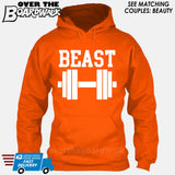 "Beauty and Beast - ""Beast"" [T-shirt/Hoodie/Tank Top]-Hoodie-Orange-Over The Boardwalk Shirts"