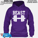 "Beauty and Beast - ""Beast"" [T-shirt/Hoodie/Tank Top]-Hoodie-Purple-Over The Boardwalk Shirts"