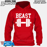 "Beauty and Beast - ""Beast"" [T-shirt/Hoodie/Tank Top]-Hoodie-Red-Over The Boardwalk Shirts"