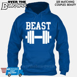 "Beauty and Beast - ""Beast"" [T-shirt/Hoodie/Tank Top]-Hoodie-Royal Blue-Over The Boardwalk Shirts"