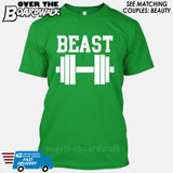 "Beauty and Beast - ""Beast"" [T-shirt/Hoodie/Tank Top] T-Shirt / Kelly Green - Over The Boardwalk Shirts"