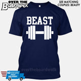 "Beauty and Beast - ""Beast"" [T-shirt/Hoodie/Tank Top]-T-Shirt-Navy-Over The Boardwalk Shirts"