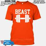 "Beauty and Beast - ""Beast"" [T-shirt/Hoodie/Tank Top]-T-Shirt-Orange-Over The Boardwalk Shirts"