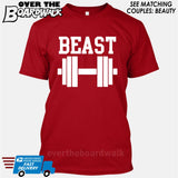 "Beauty and Beast - ""Beast"" [T-shirt/Hoodie/Tank Top] T-Shirt / Red - Over The Boardwalk Shirts"