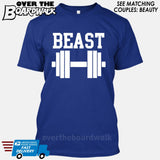 "Beauty and Beast - ""Beast"" [T-shirt/Hoodie/Tank Top] T-Shirt / Royal Blue - Over The Boardwalk Shirts"