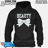 "Beauty and Beast - ""Beauty"" [T-shirt/Hoodie]-Hoodie-Black-Over The Boardwalk Shirts"