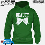"Beauty and Beast - ""Beauty"" [T-shirt/Hoodie]-Hoodie-Kelly Green-Over The Boardwalk Shirts"