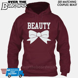 "Beauty and Beast - ""Beauty"" [T-shirt/Hoodie]-Hoodie-Maroon-Over The Boardwalk Shirts"