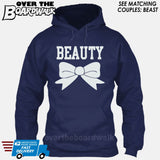 "Beauty and Beast - ""Beauty"" [T-shirt/Hoodie]-Hoodie-Navy-Over The Boardwalk Shirts"
