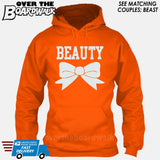 "Beauty and Beast - ""Beauty"" [T-shirt/Hoodie]-Hoodie-Orange-Over The Boardwalk Shirts"