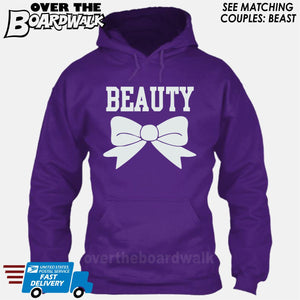 "Beauty and Beast - ""Beauty"" [T-shirt/Hoodie]-Hoodie-Purple-Over The Boardwalk Shirts"