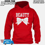 "Beauty and Beast - ""Beauty"" [T-shirt/Hoodie]-Hoodie-Red-Over The Boardwalk Shirts"