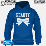 "Beauty and Beast - ""Beauty"" [T-shirt/Hoodie]-Hoodie-Royal Blue-Over The Boardwalk Shirts"