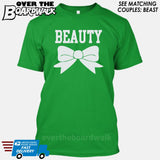 "Beauty and Beast - ""Beauty"" [T-shirt/Hoodie]-T-Shirt-Kelly Green-Over The Boardwalk Shirts"