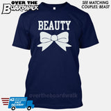 "Beauty and Beast - ""Beauty"" [T-shirt/Hoodie]-T-Shirt-Navy-Over The Boardwalk Shirts"