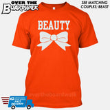 "Beauty and Beast - ""Beauty"" [T-shirt/Hoodie]-T-Shirt-Orange-Over The Boardwalk Shirts"