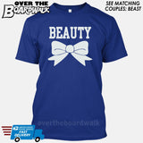 "Beauty and Beast - ""Beauty"" [T-shirt/Hoodie]-T-Shirt-Royal Blue-Over The Boardwalk Shirts"