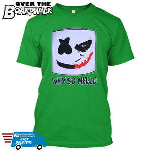 Joker Face Marshmello Smiley Face DJ Why So Mello **YOUTH SIZES** [Music T-shirt]-Over The Boardwalk Shirts