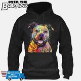 Beware of Pit bulls They Will Steal Your Heart - DEAN RUSSO LICENSED [Hoodie] Hoodie / Black / Small - Over The Boardwalk Shirts