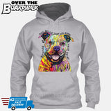Beware of Pit bulls They Will Steal Your Heart - DEAN RUSSO LICENSED [Hoodie] Hoodie / Heather Grey / Small - Over The Boardwalk Shirts
