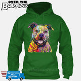 Beware of Pit bulls They Will Steal Your Heart - DEAN RUSSO LICENSED [Hoodie] Hoodie / Kelly Green / Small - Over The Boardwalk Shirts