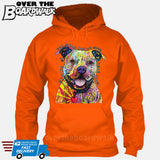 Beware of Pit bulls They Will Steal Your Heart - DEAN RUSSO LICENSED [Hoodie] Hoodie / Orange / Small - Over The Boardwalk Shirts