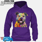 Beware of Pit bulls They Will Steal Your Heart - DEAN RUSSO LICENSED [Hoodie] Hoodie / Purple / Small - Over The Boardwalk Shirts