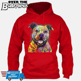 Beware of Pit bulls They Will Steal Your Heart - DEAN RUSSO LICENSED [Hoodie] Hoodie / Red / Small - Over The Boardwalk Shirts