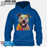Beware of Pit bulls They Will Steal Your Heart - DEAN RUSSO LICENSED [Hoodie] Hoodie / Royal Blue / Small - Over The Boardwalk Shirts