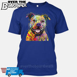 Beware of Pit bulls They Will Steal Your Heart - DEAN RUSSO LICENSED [T-shirt/Tank Top]-T-Shirt-Royal Blue-Small-Over The Boardwalk Shirts