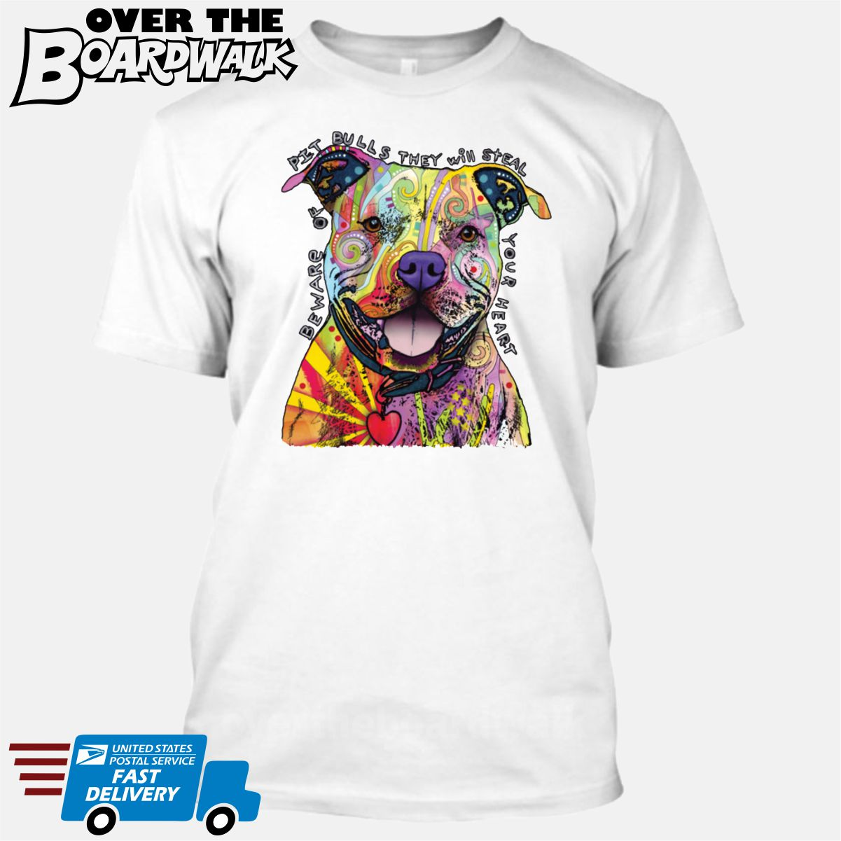 936d054ff ... Beware of Pit bulls They Will Steal Your Heart - DEAN RUSSO LICENSED  [T- ...