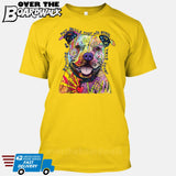 Beware of Pit bulls They Will Steal Your Heart - DEAN RUSSO LICENSED [T-shirt/Tank Top]-T-Shirt-Yellow-Small-Over The Boardwalk Shirts