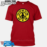 GOKU'S GYM DBZ Gold's Logo Funny Parody [T-shirt/Tank Top]-T-Shirt-Red-Small-Over The Boardwalk Shirts