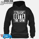 Straight Outta the Gym [T-shirt/Hoodie/Tank Top]-Hoodie-Black-Over The Boardwalk Shirts