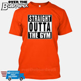 Straight Outta the Gym [T-shirt/Hoodie/Tank Top]-T-Shirt-Orange-Over The Boardwalk Shirts