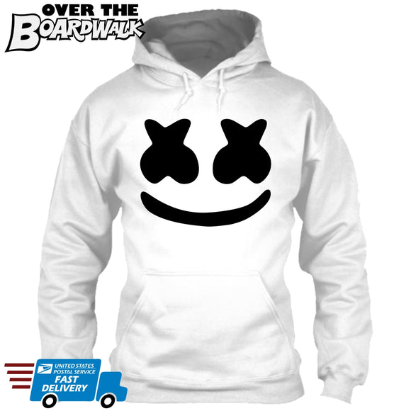 Marshmello Smiley Face [Music Hoodie/Hooded Sweatshirt] Adult Sizes [variant_title] - Over The Boardwalk Shirts